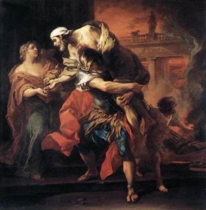 Анхис   дарданский царь, отец Энея, вынесенный им из пылающей Трои