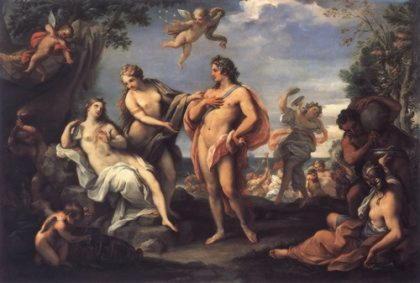 Вакх и Ариадна.Джузеппе Бартоломео Кьяри (1654—1727).