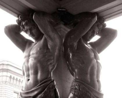 Атлант   великан, держащий на плечах небесный свод