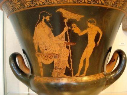 Ганимед   красивый юноша, виночерпий богов на Олимпе