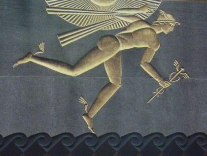 Гермес (Гермий, Эрмий)   вестник богов и проводник душ, бог торговцев, ораторов, изобретателей, паломников и путешественников, атлетов, мошенников и воров