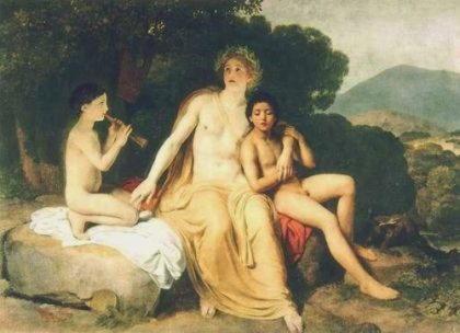 Гиакинф (Гиацинт, Иакинт, Иакинф)   друг Аполлона, из ревности убитый Зефиром