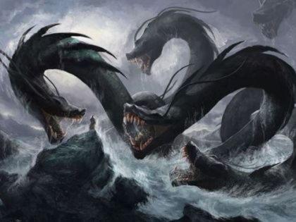 Гидра   чудовище со змеиным телом и девятью драконьими головами, убитое Гераклом