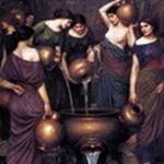 Данаиды, дочери Даная, наказанные богами выполнением бессмысленного труда