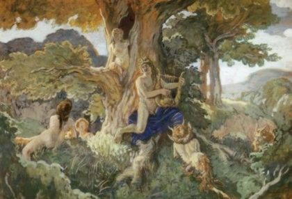 Дафна, прекрасная нимфа, возлюбленная Аполлона, превращенная в лавровое дерево