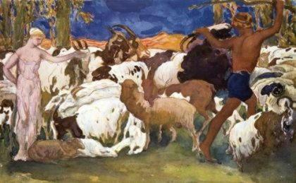 Дафнис, первый певец пастушеских песен