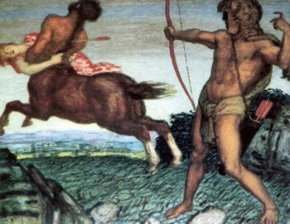 Деянира, вторая жена Геракла, ставшая косвенной причиной его смерти