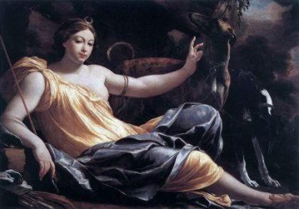 Диана, древнеиталийская богиня света и жизни, луны и охоты