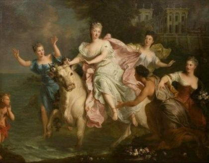 Европа, возлюбленная Зевса, похищенная им в образе быка из Азии