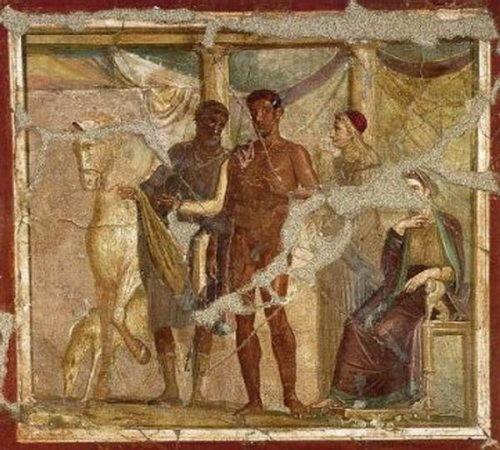 Ипполит (Гипполит), сын Тесея, оклеветанный мачехой и растоптанный конями