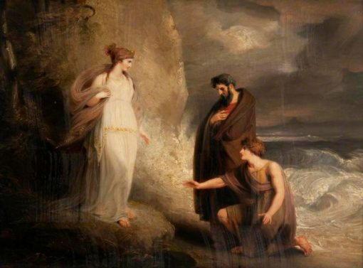Калипсо, нимфа на западном острове Огигия, семь лет державшая у себя Одиссея