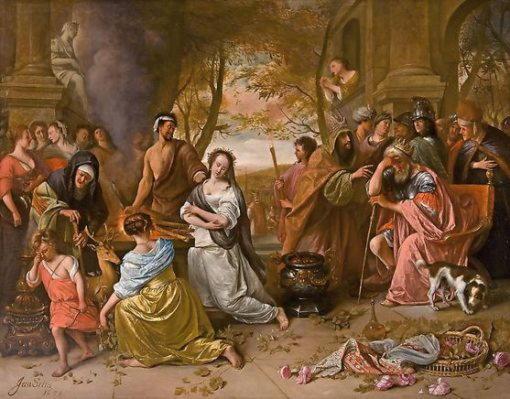Ифигения, дочь Агамемнона, добровольная жертва, спасенная Артемидой