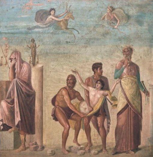 фреска жертвоприношение ифигении помпеи