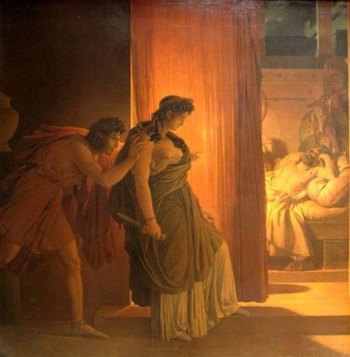 Пьер-Нарсис Герен, Клитемнестра колеблется перед убийством спящего Агамемнона, 1817