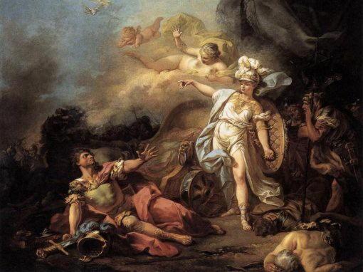 Битва Марса и Минервы Жак Луи Давид