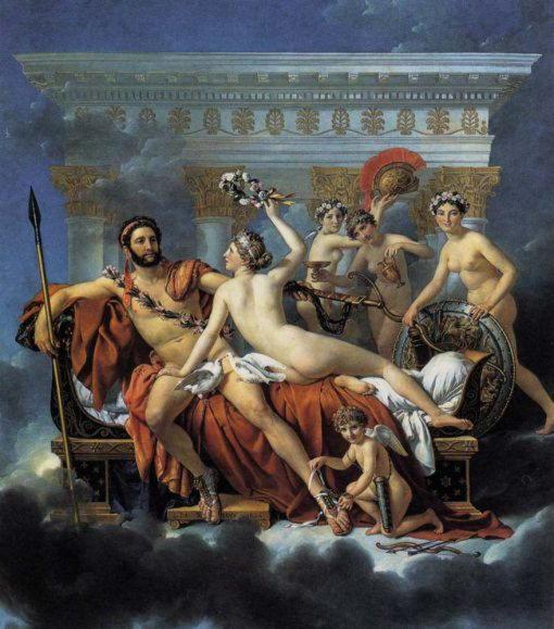Венера, Марс и грации. Жак Луи Давид