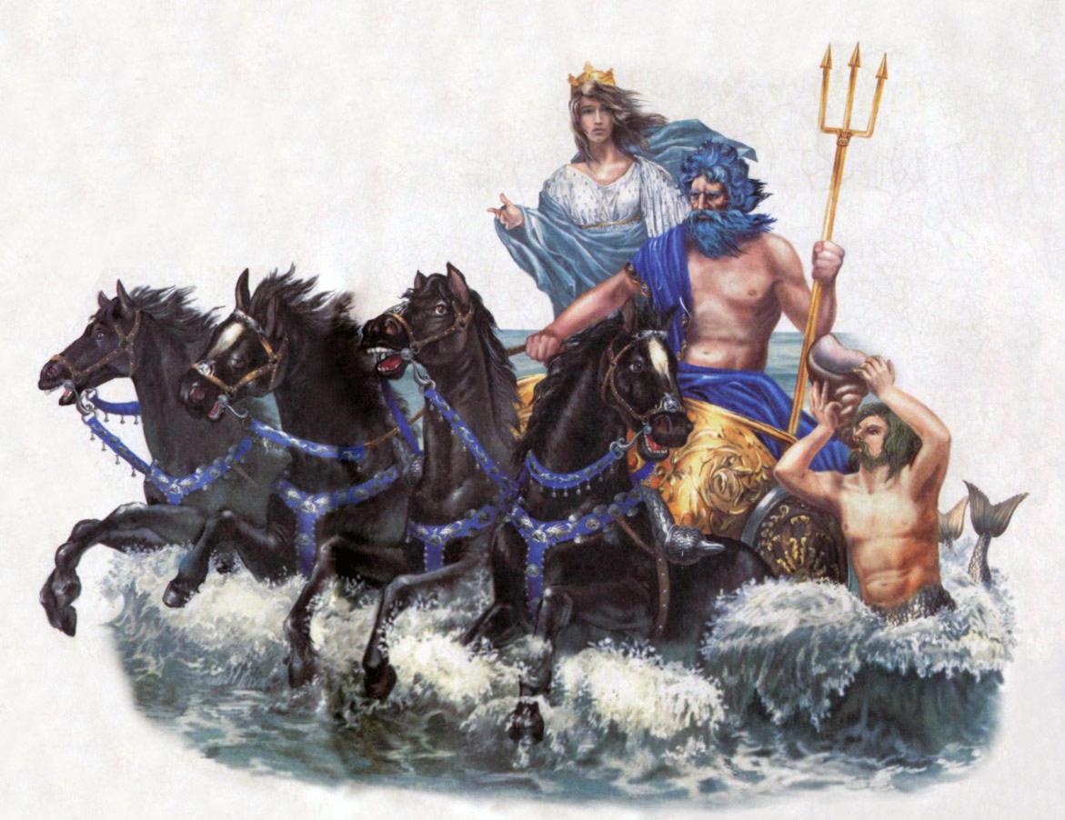Нептун, лат. — римский бог моря, тождественный греческому Посейдону.