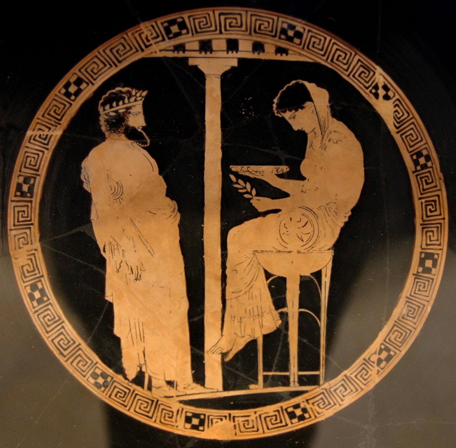 Фемида в роли Пифии вещает Эгею
