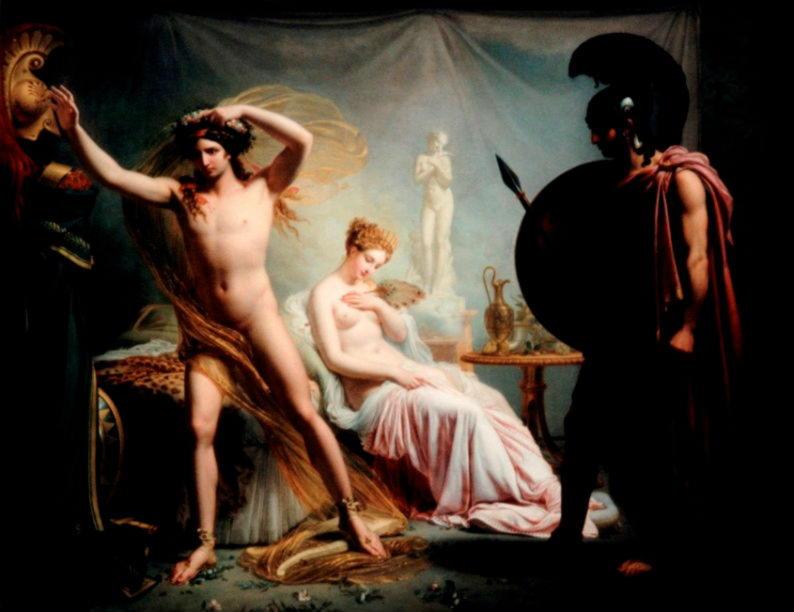 Гектор, Елена и Парис