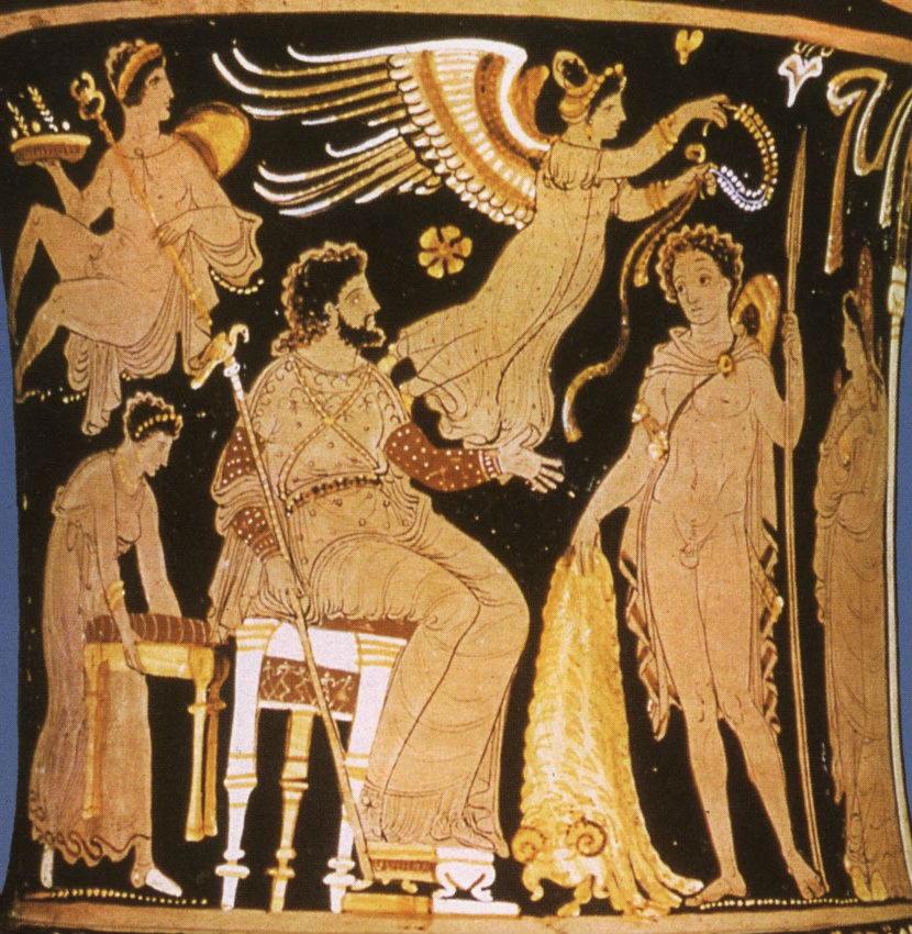 Греческий герой Язон и царь пелей