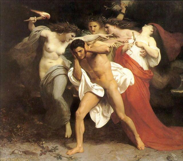 Орест, преследуемый Эриниями