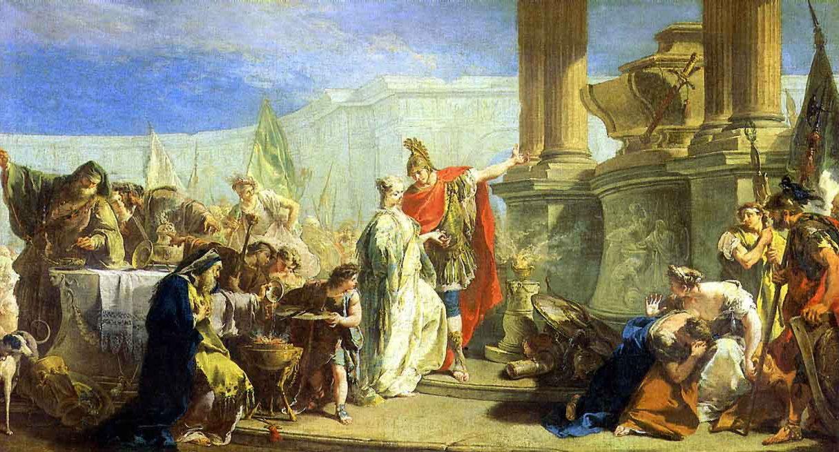 Поликсена, приносящая жертву богам Ахилла.
