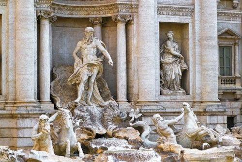 Рим фонтан Треви - титан Океан