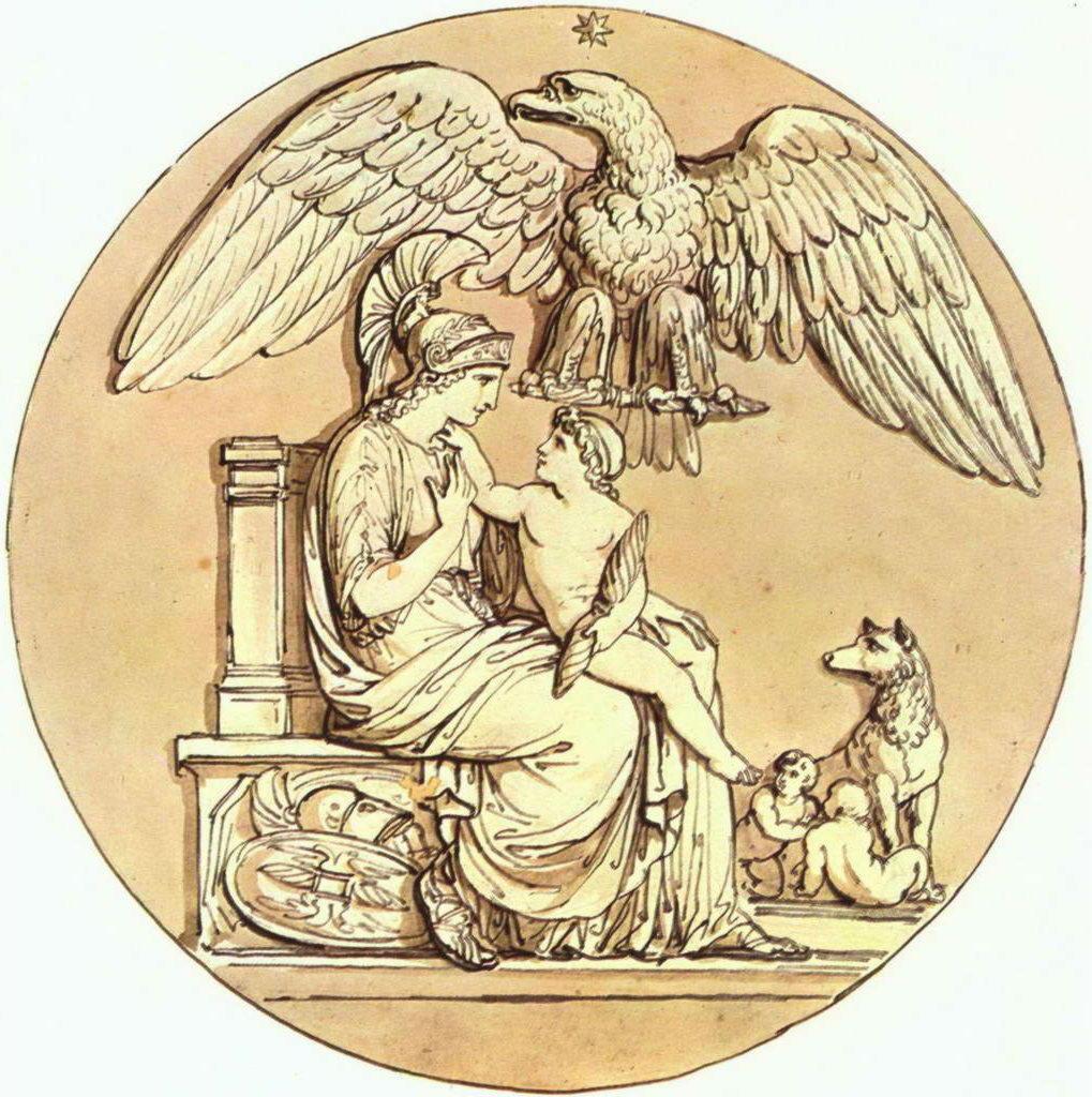 "Рома, лат. (''Рим"") — богиня города Рима и его персонификация."