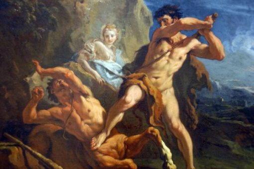 Hercules Killing the Centaur Nessus, ca 1700, Sebastiano Ricci