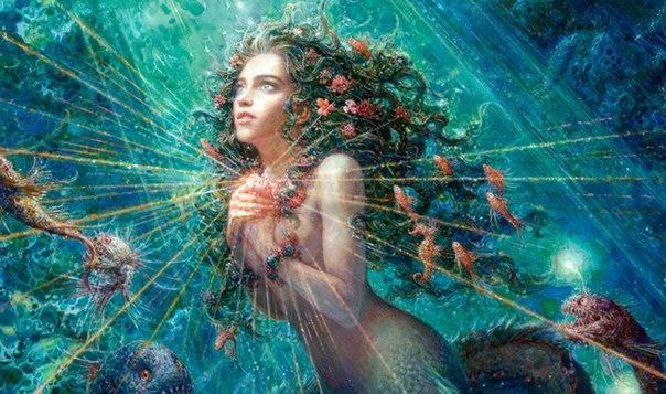 Нереиды, греч. — дочери морского бога Нерея и его супруги Дориды, морские нимфы.