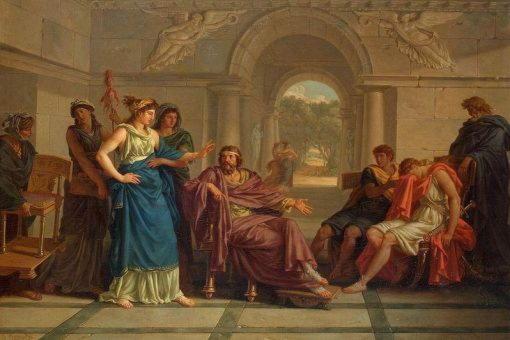 Телемах, Менелай и Елена. Jean-Jacques Lagrenee