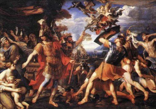 Битва Энея с гарпиями. Франсуа Перье