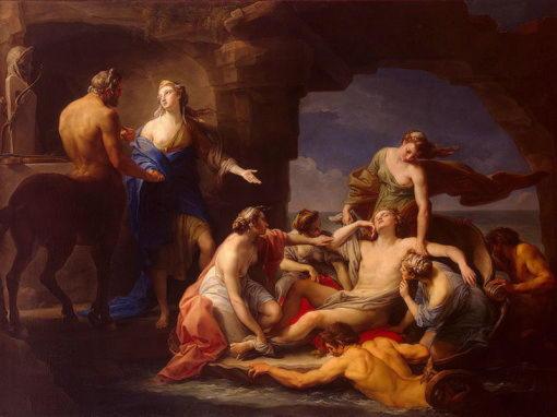 Хирон, Фетида и погибший Ахилл Помпео Батони