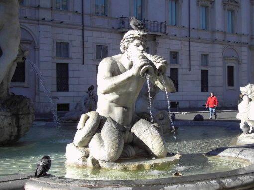 тритон фонтан