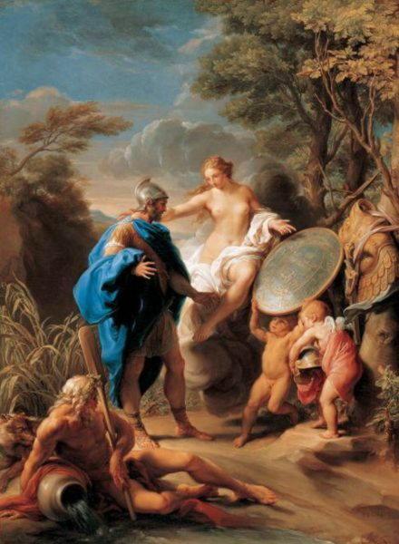 Венера, дарящая Энею доспехи, изготовленные Вулканом, Помпео Батони