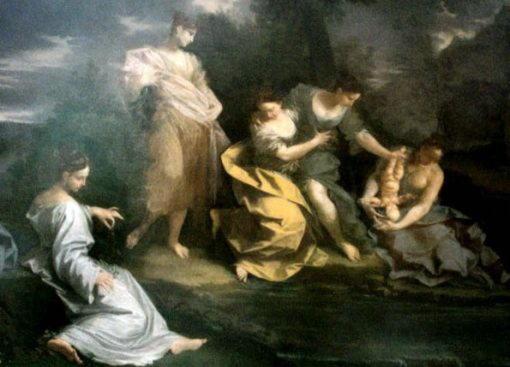 Фетида купает Ахилла в водах Стикса