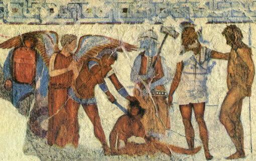 фреска патрокл