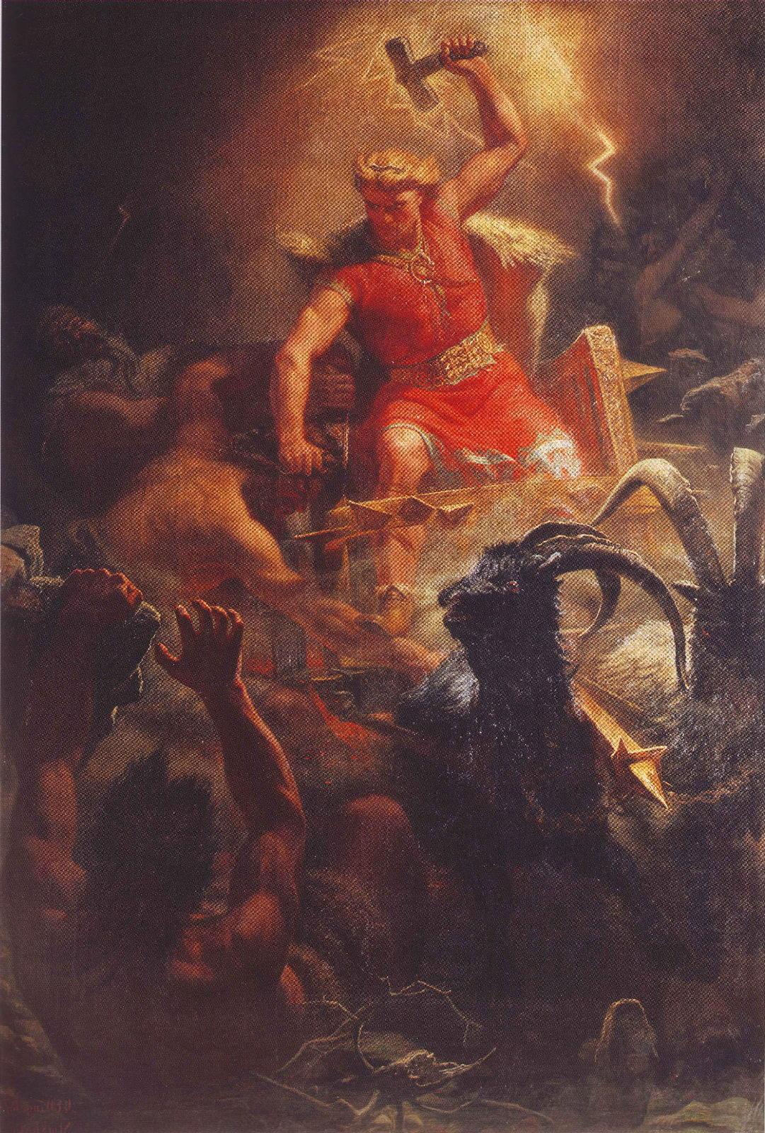 Тор бой с великанами