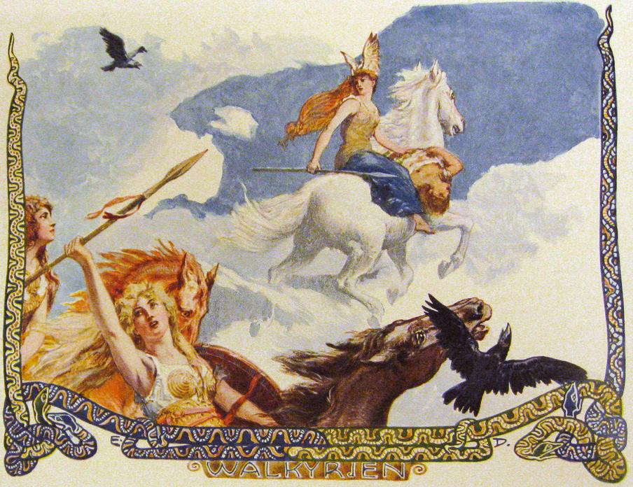 Валькирии-девы воительницы Скандинавии