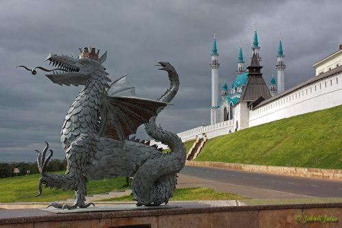 "Kazan and it's her symbol ""Zilant"""