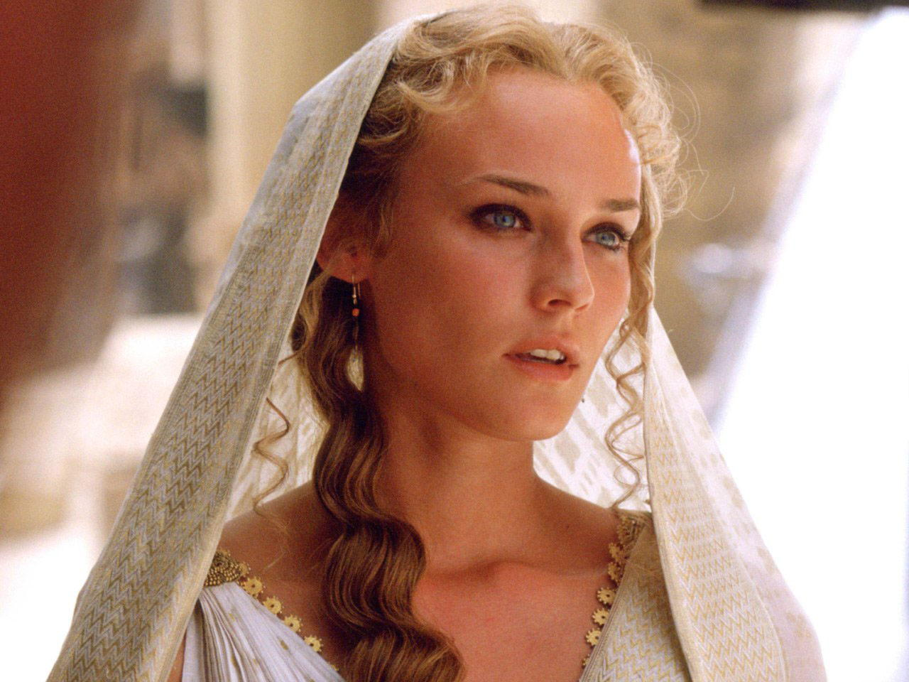 "DIANE KRUGER as 'Helen' in Warner Bros. Pictures' epic action adventure ""Troy,"" starring Brad Pitt, Eric Bana and Orlando Bloom."
