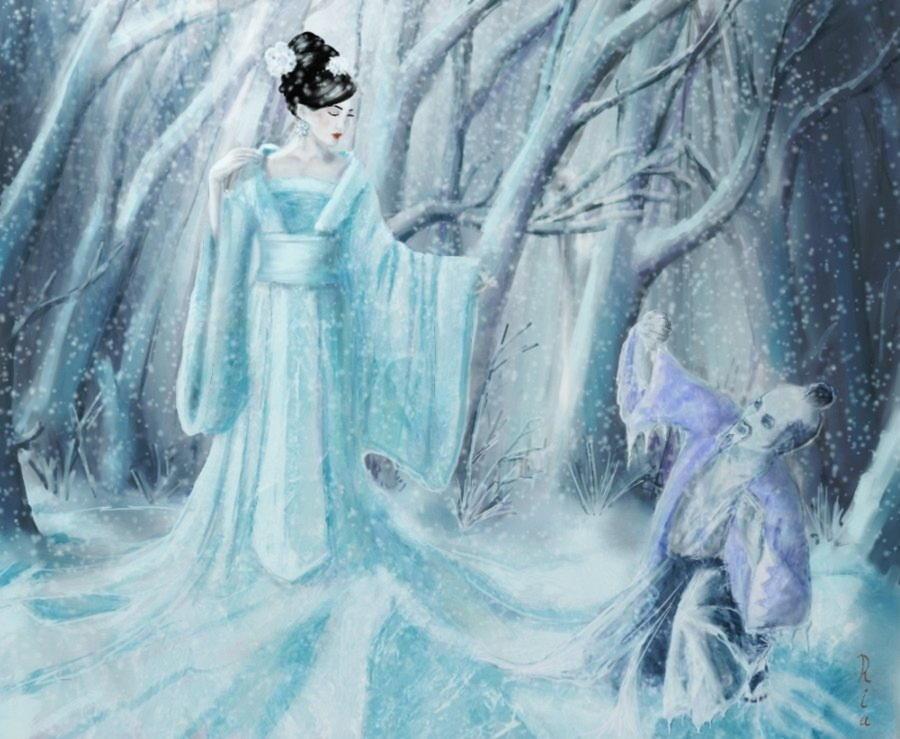 yuki_onna_as_ice_queen_by_reginanegra