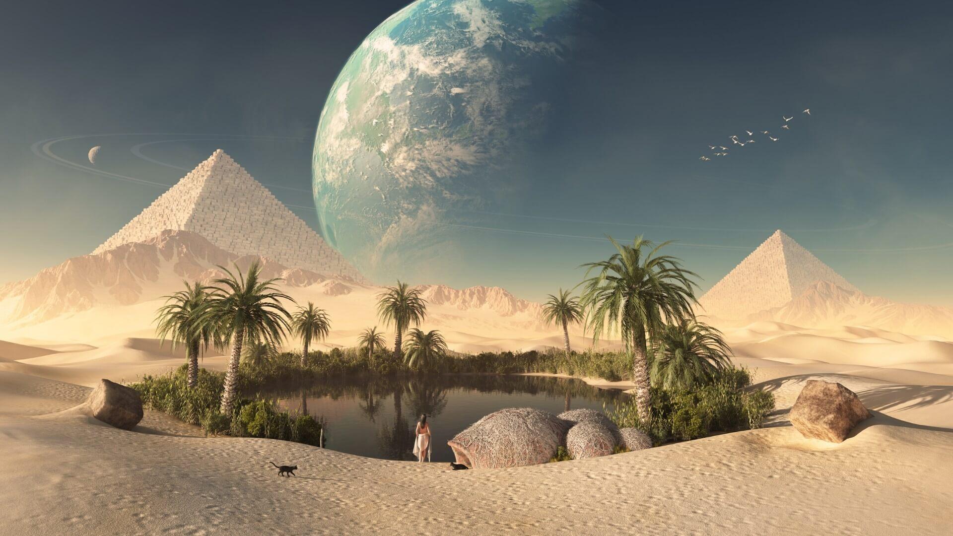 Обои гробница, иероглифы, Пирамиды, пустыня, египет. Разное foto 17