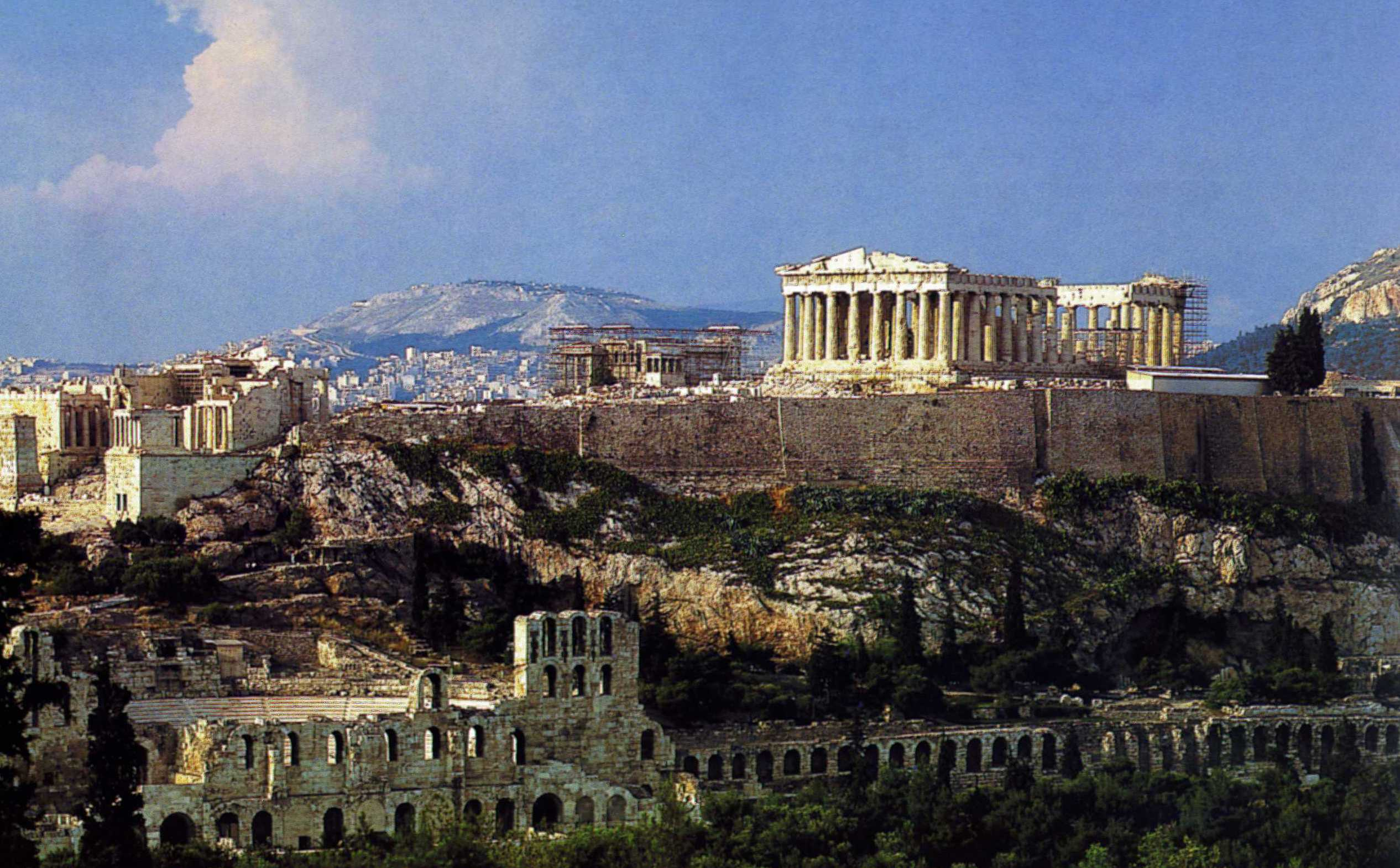 Парфенон — древний храм в честь Афины