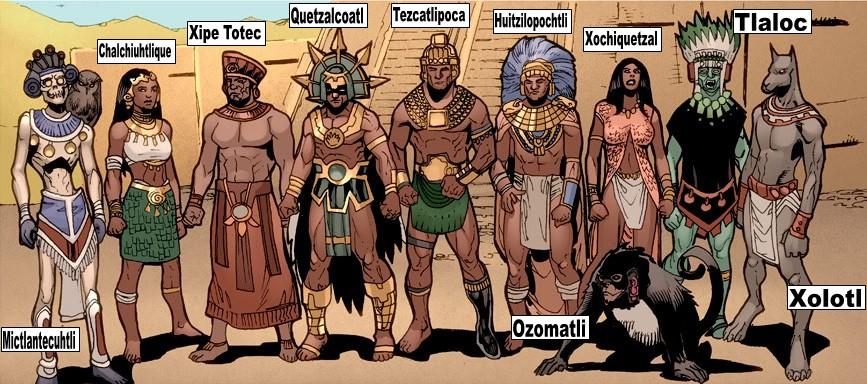 10 ацтекских богов с труднопроизносимыми именами