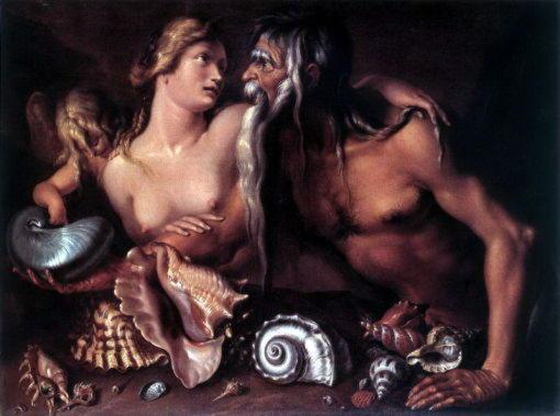 Амфитрита, прекрасная морская богиня, жена Посейдона