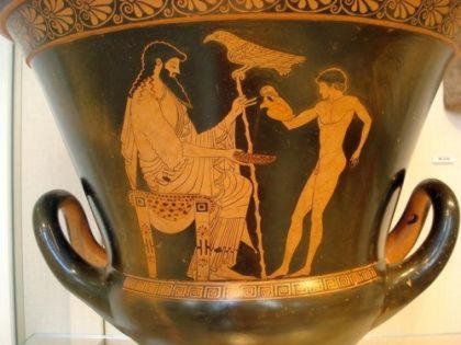 Ганимед, красивый юноша, виночерпий богов на Олимпе