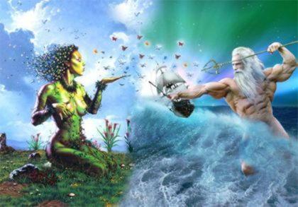 Гея, богиня земли и сама Земля, мать титанов, гигантов и всего, что жило и росло на земле