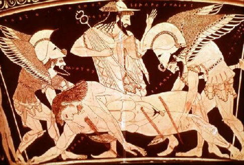 Патрокл убивает Сарпедона