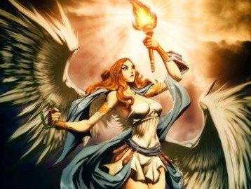 Нике, Нйка, греч., лат. Виктория — дочь титана Палланта и его супруги, океаниды Стикс; богиня победы.